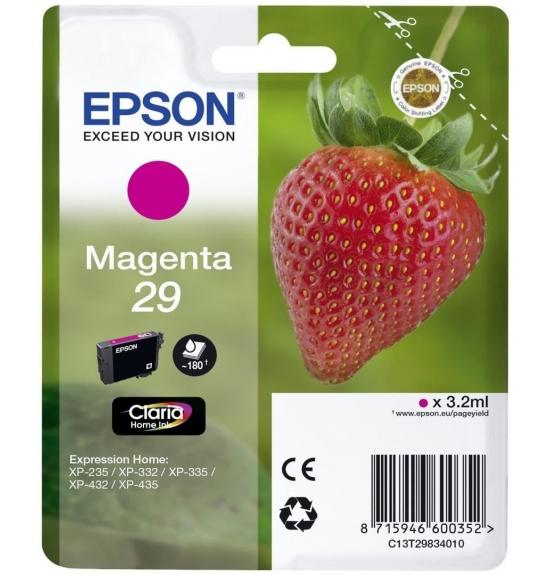 epson cartouche d encre cartouche fraise encre claria home mangenta epson c13t29834012 chez. Black Bedroom Furniture Sets. Home Design Ideas